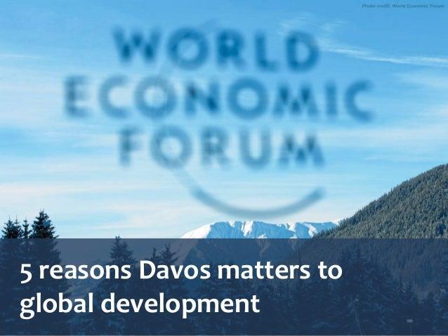 5 reasons Davos matters to global development