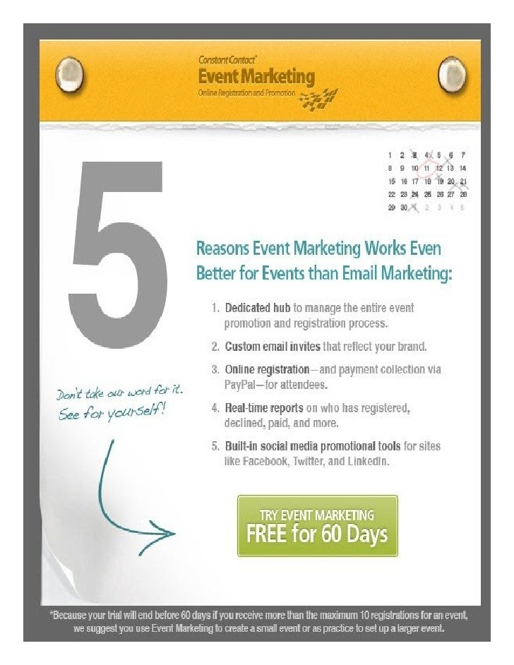 5 reasons Event Marketing is better for Events than Email Marketing