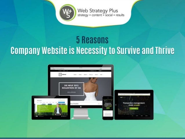 5 Reasons a Company Website Isn't Optional: It's a Necessity to Survive and Thrive
