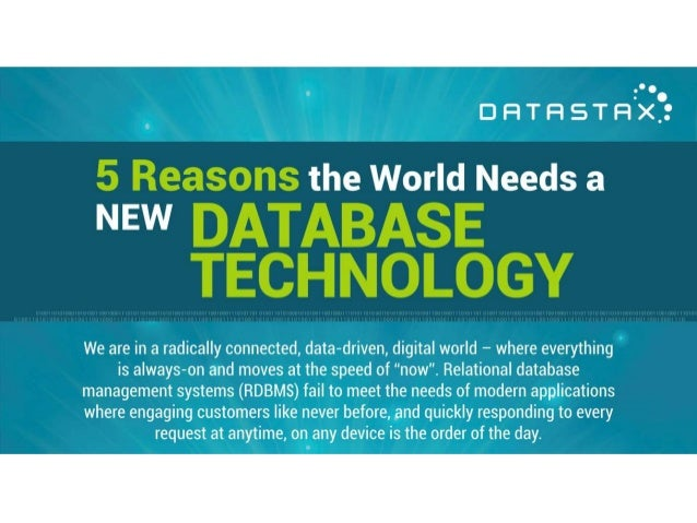 5 Reasons the World Needs a New Database Technology