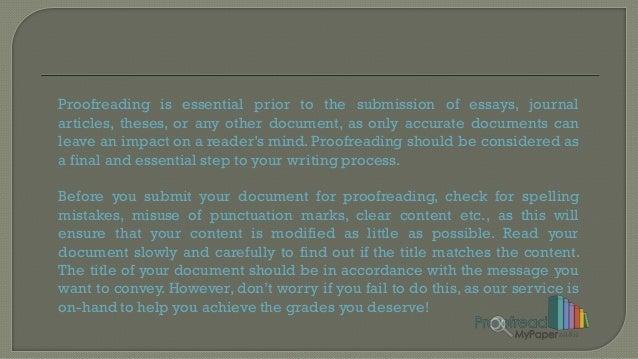 Proofread my essay??