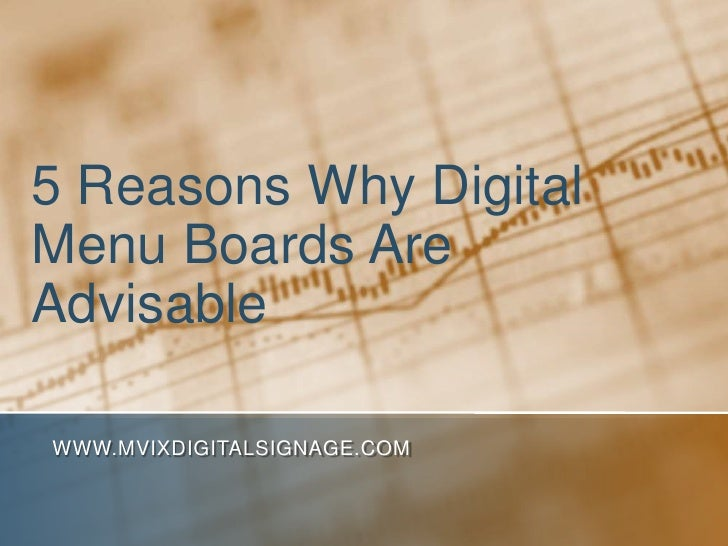 5 Reasons Why Digital Menu Boards Are Advisable