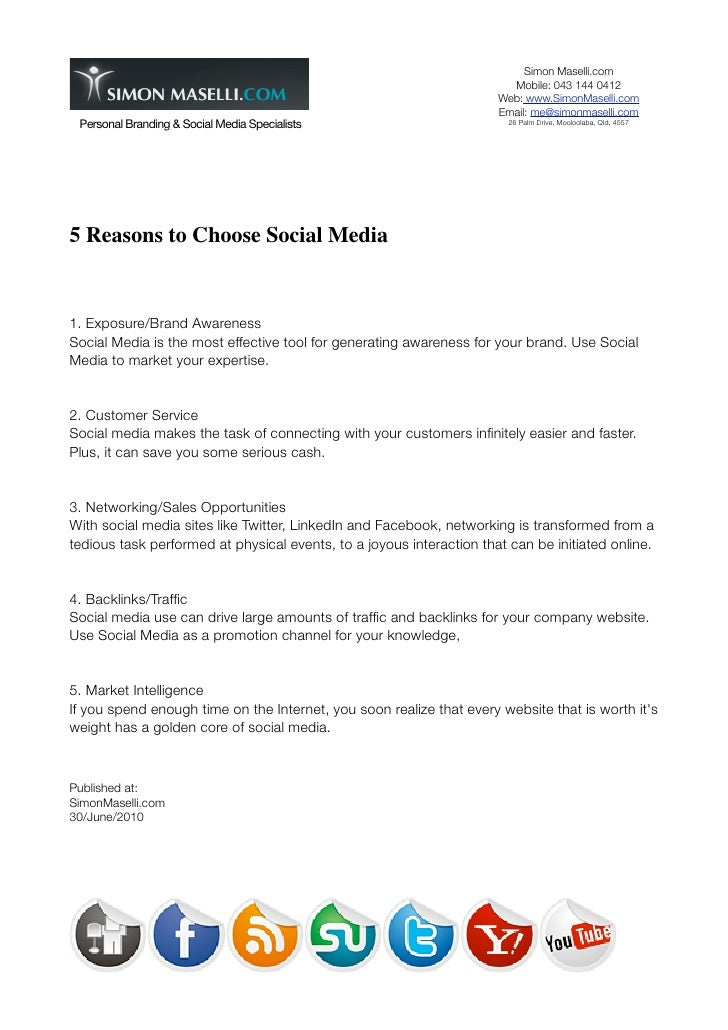 5 reasons why use social media