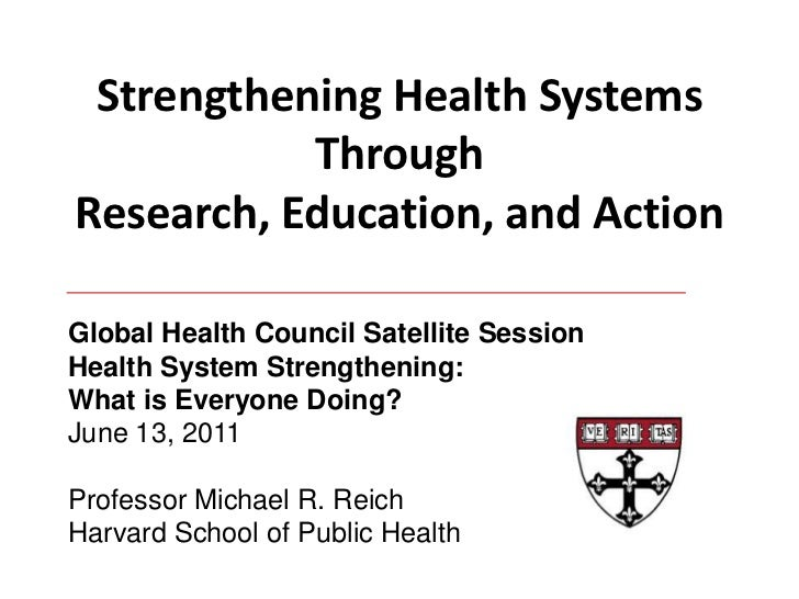 Strengthening Health Systems Through Research, Education, and Action