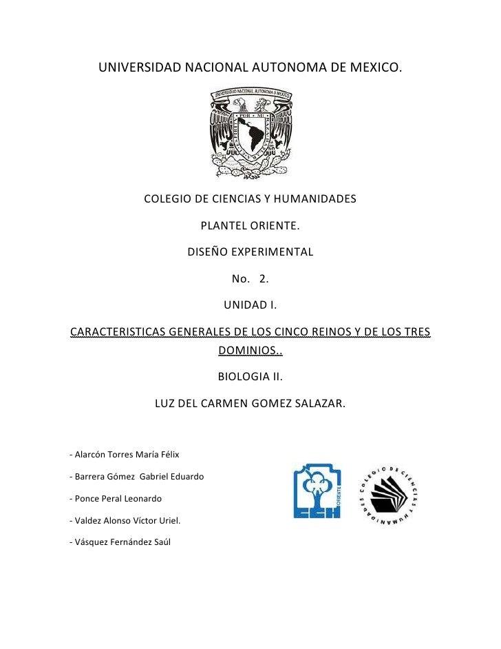 UNIVERSIDAD NACIONAL AUTONOMA DE MEXICO.                   COLEGIO DE CIENCIAS Y HUMANIDADES                              ...