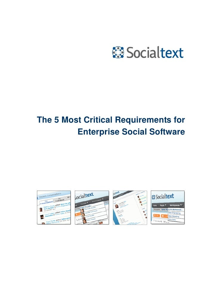 5 Requirementsfor Enterpris Social Software