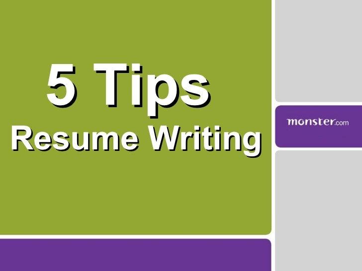 5 Tips  Resume Writing