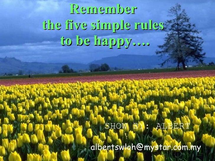 5 Rulesin Life