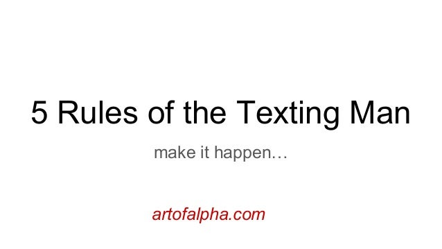 Texting rules for girls