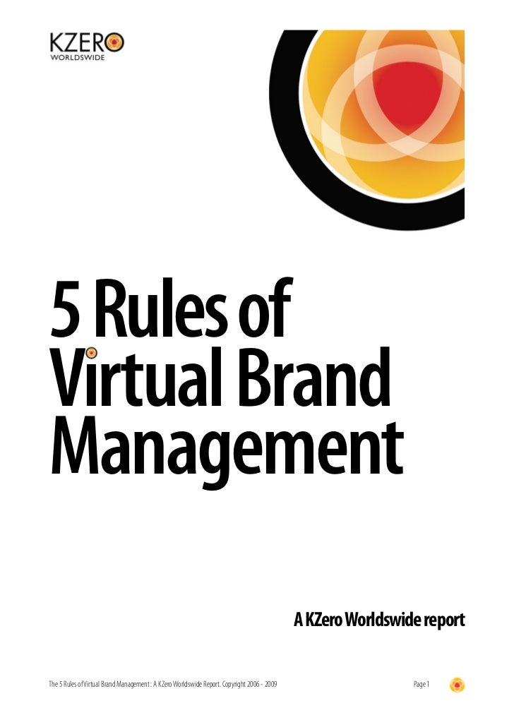 5 Rules of Virtual Brand Management                                                                                       ...