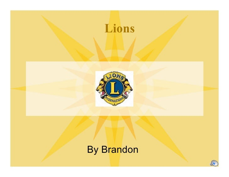 Lions     By Brandon