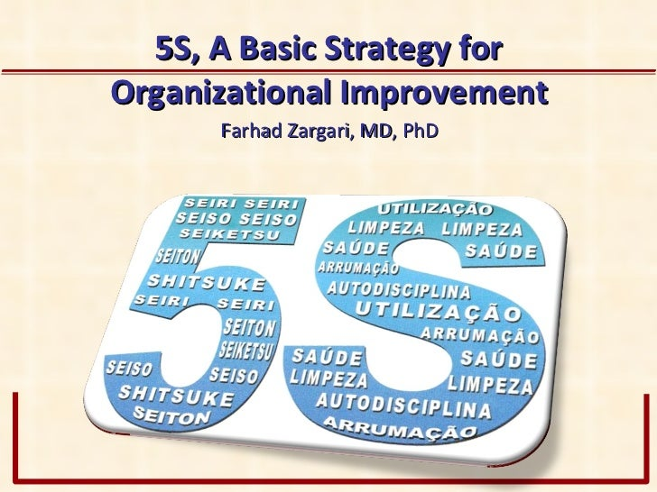 5 S, A Basic Strategy for Organizational Improvement