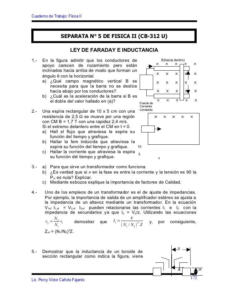 Cuaderno de Trabajo: Física II                 SEPARATA N° 5 DE FISICA II (CB-312 U)                       LEY DE FARADAY ...