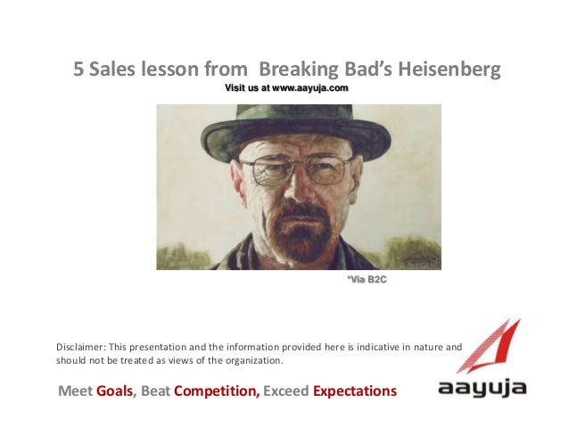 5 Sales Lesson From Heisenberg
