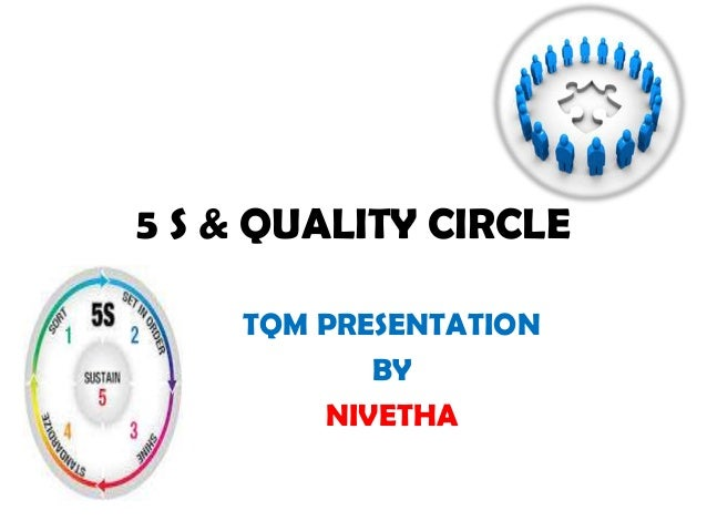 5 S & QUALITY CIRCLETQM PRESENTATIONBYNIVETHA