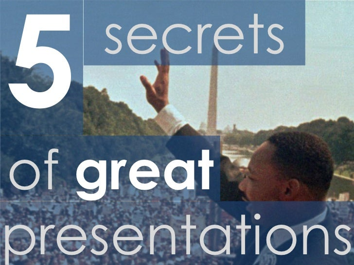 5 secrets of great presentations