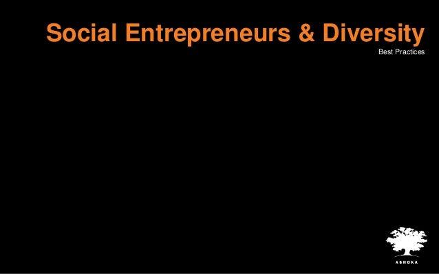 Diversity within leading social enterprises