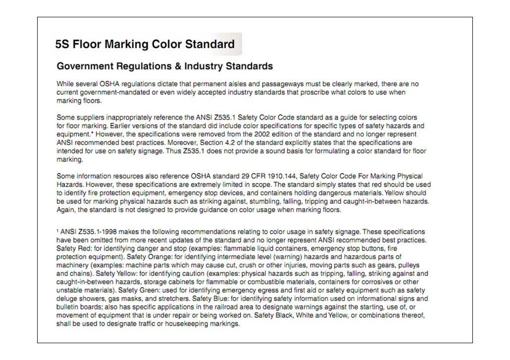 5s+Color+Standard 5s floor marking color standard