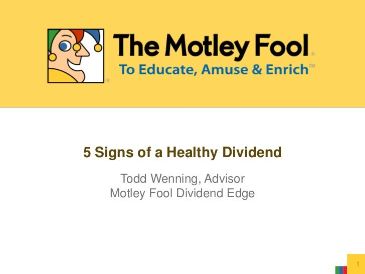 5 Signs of a Healthy Dividend