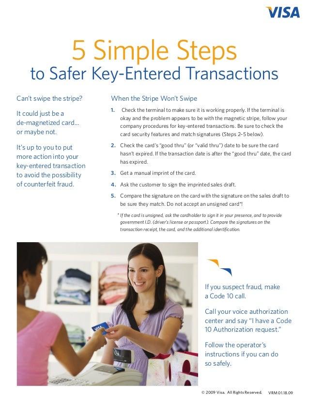 5 Simple Steps to Safer Key-Entered Transactions