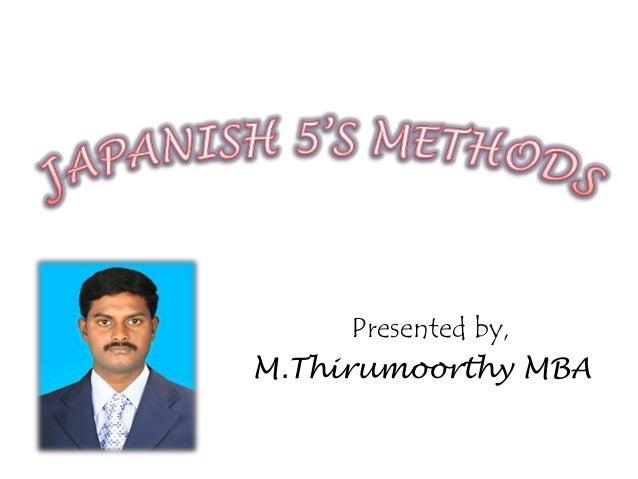 Presented by, M.Thirumoorthy MBA