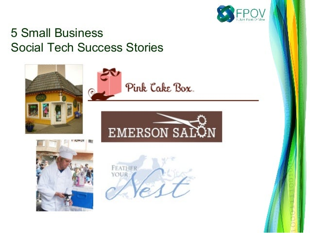 5 Small BusinessSocial Tech Success Stories