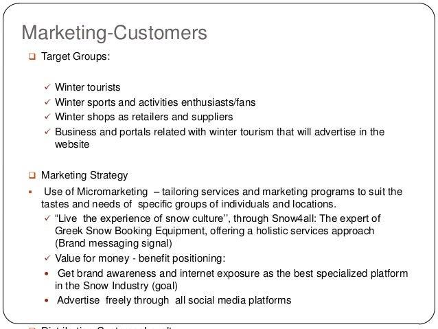 Summer company business plan