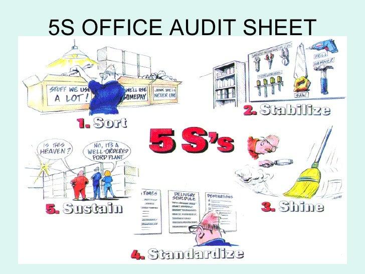 5S OFFICE AUDIT SHEET