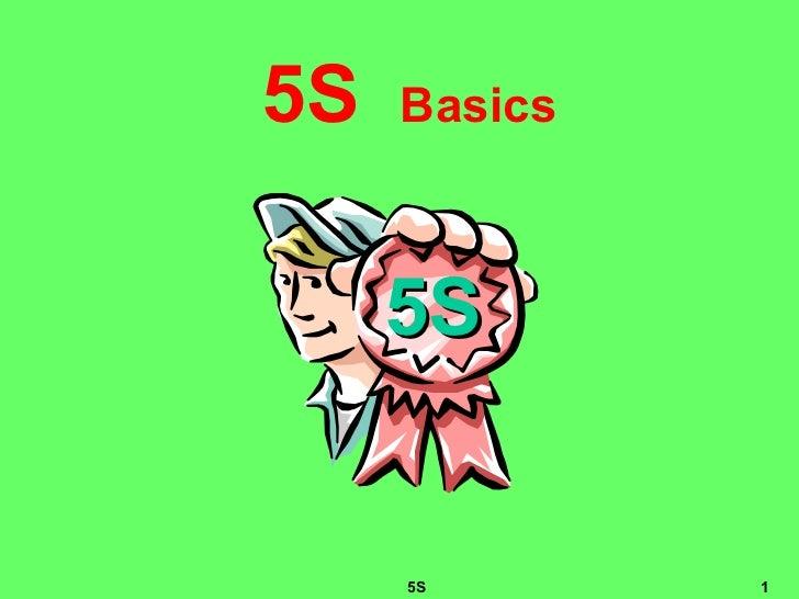 5 s presentation basic training for 5s office design