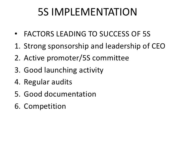 basic knowledge of 5s implementation