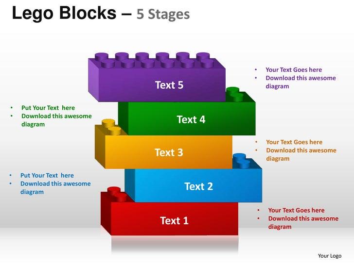 Powerpoint Building Blocks Template Free