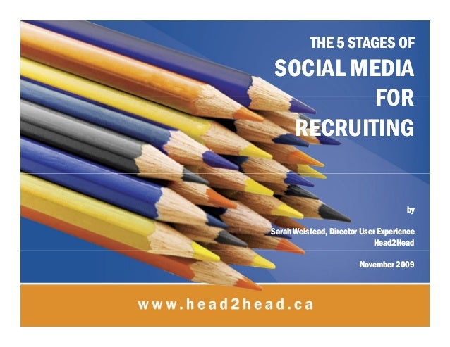 THE 5 STAGES OFTHE 5 STAGES OF SOCIAL MEDIASOCIAL MEDIA FORFOR RECRUITINGRECRUITING byby Sarah Welstead, Director User Exp...