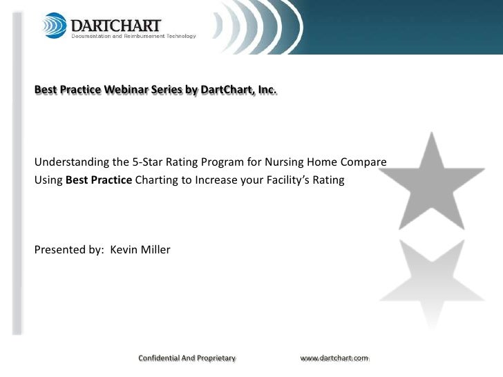Best Practice Webinar Series by DartChart, Inc.     Understanding the 5-Star Rating Program for Nursing Home Compare Using...