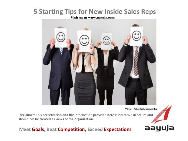Five Starting Tips for New Inside Sales Reps