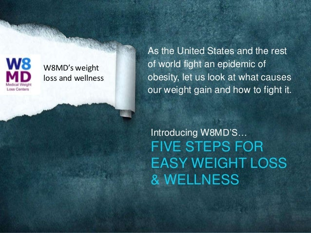 W8MD's weight loss and wellness  As the United States and the rest of world fight an epidemic of obesity, let us look at w...