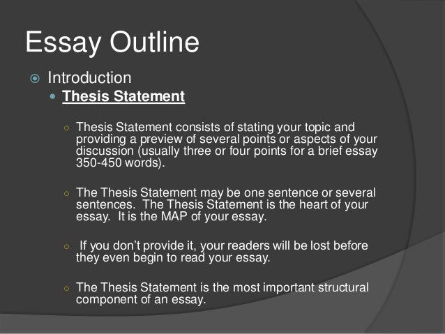 Rubric Checklist for an Essay Outline