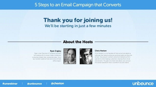Thank you for joining us! We'll be starting in just a few minutes About the Hosts Chris Hexton Chris Hexton is a co-founde...