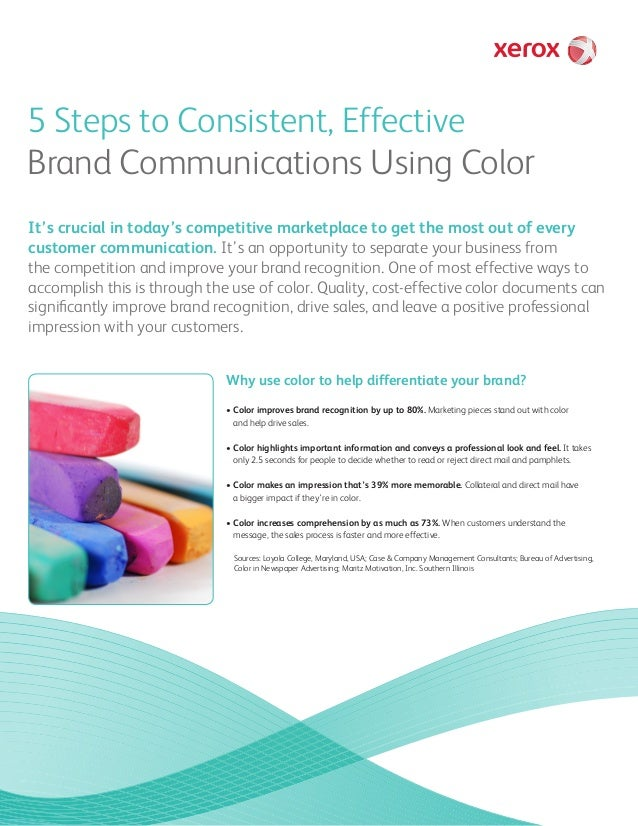 5 Steps to Consistent, Effective Brand Communications Using Color It's crucial in today's competitive marketplace to get t...
