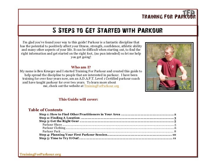 5 steps to get started with parkour