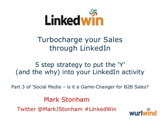 Turbocharge your Sales through LinkedIn 5 step strategy to put the 'Y' (and the why) into your LinkedIn activity Part 3 of...
