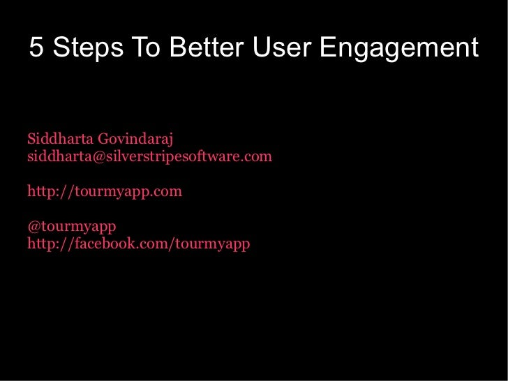 5 steps to better user engagement