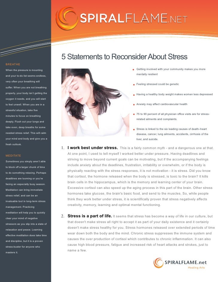 5 Statements to Reconsider About StressBREATHEWhen the pressure is mounting                                               ...