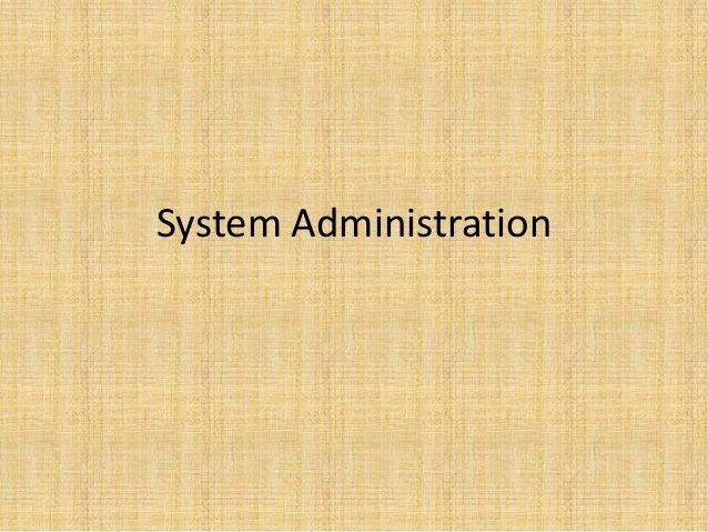 5, system admin