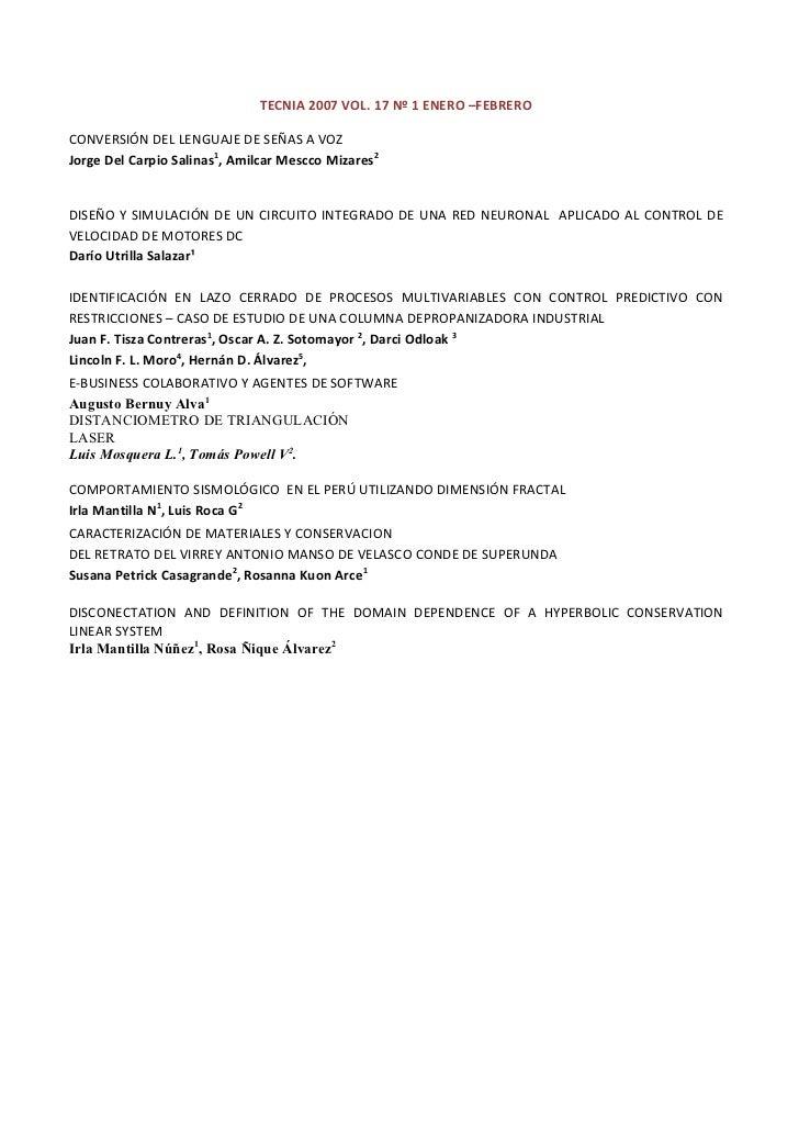 5 tecnia 2007 vol 17 nº 1