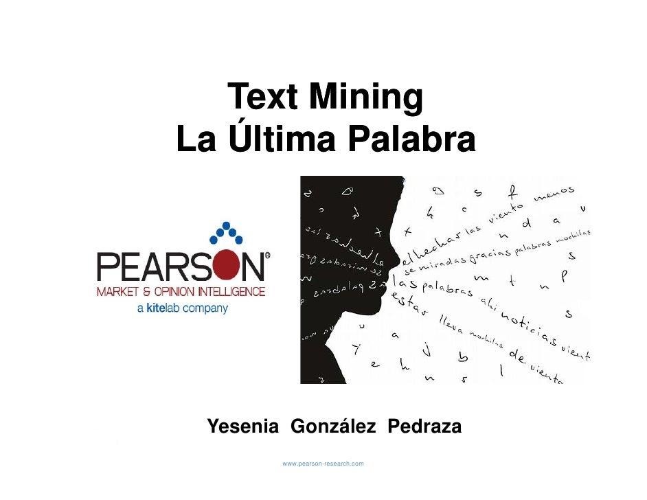 5 text mining la ultima palabra yesenia glez pearson