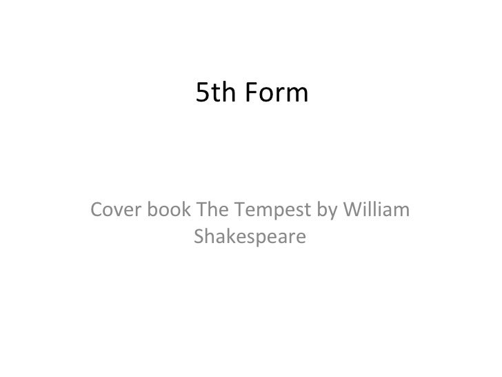 5th Form Cover book The Tempest by William Shakespeare