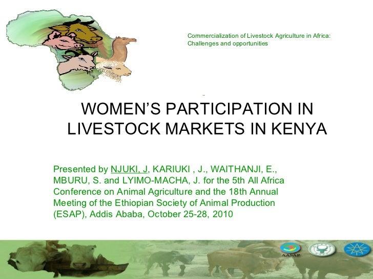 Women's participation in livestock markets in Kenya