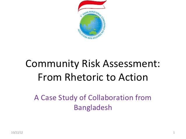Community Risk Assessment: From Rhetoric to Action