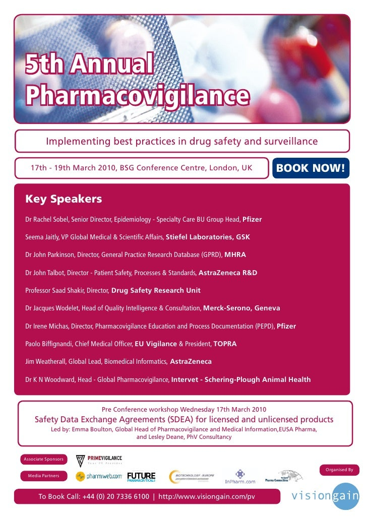 5th Annual Pharmacovigilance           Implementing best practices in drug safety and surveillance     17th - 19th March 2...