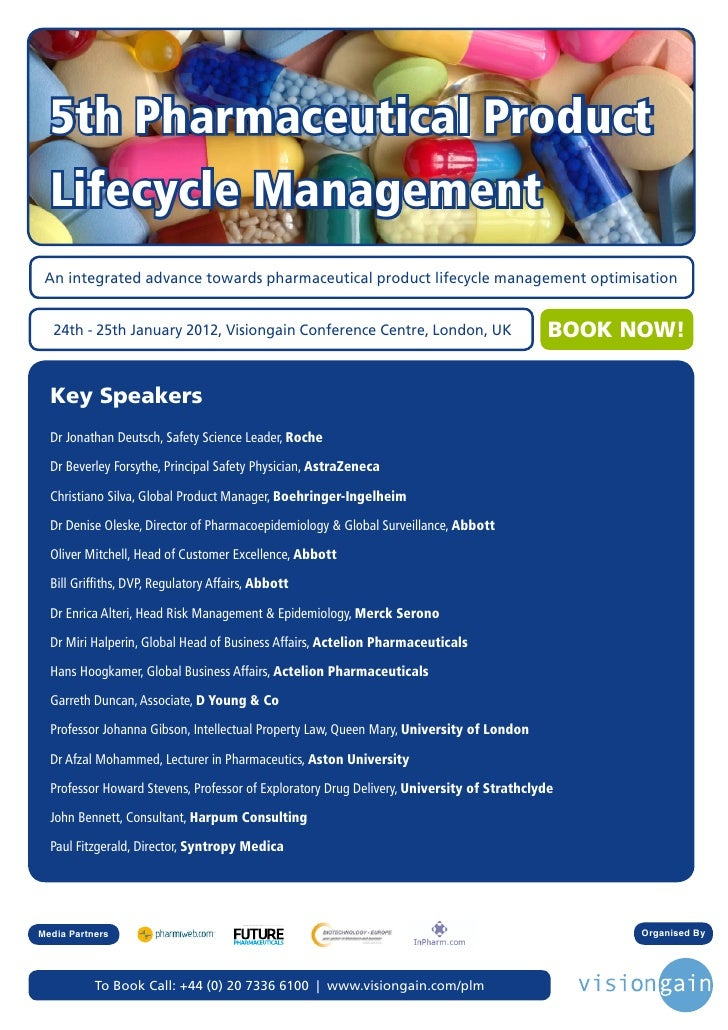 5th Pharmaceutical Product  Lifecycle Management An integrated advance towards pharmaceutical product lifecycle management...